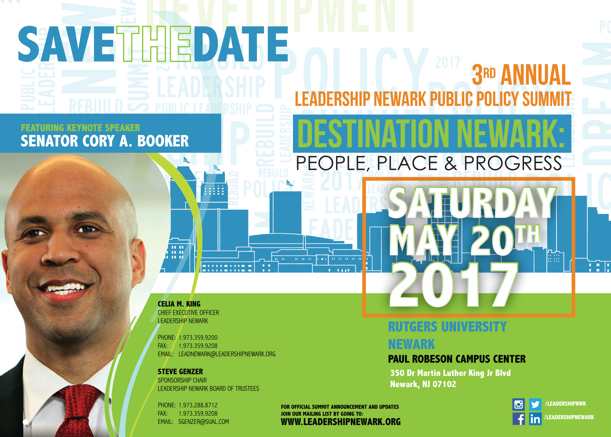 Leadership Newark Inc. Announces 3rd Public Policy Summit